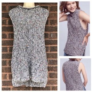 Anthropologie Moth Knitted Gray Vest